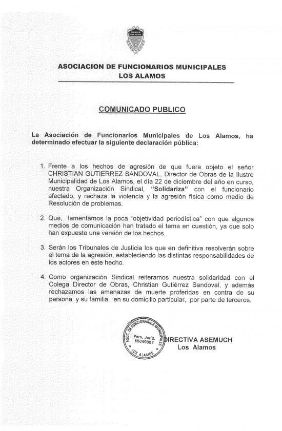 declaracion pública asemuch los Alamos